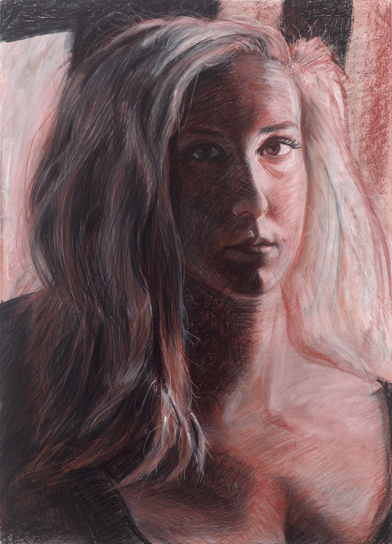 Portrait of Scarlet in Conté